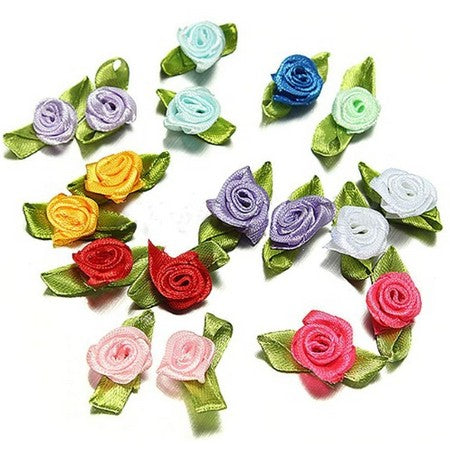 Assorted Mini Roses With Leaves - 25pcs