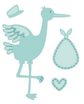 Sue Wilson Designs - New Arrival Collection - Stork & Baby