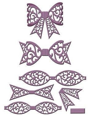 Sue Wilson Designs - Finishing Touches - Filigree Bow