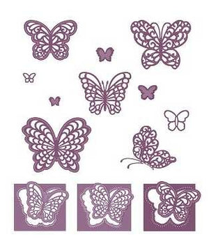 Sue Wilson Designs - Finishing Touches - Magical Butterflies