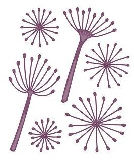 Sue Wilson Designs - Finishing Touches - Dandelion Clocks