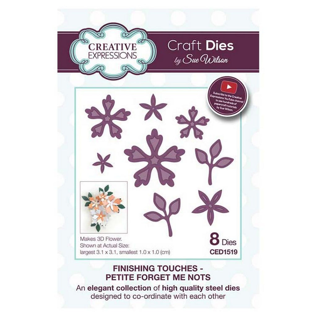 Sue Wilson Designs - Finishing Touches Collection - Petite Forget Me Nots