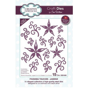 Sue Wilson Designs - Dies - Finishing Touches Collection - Jasmine (Ships April 17)