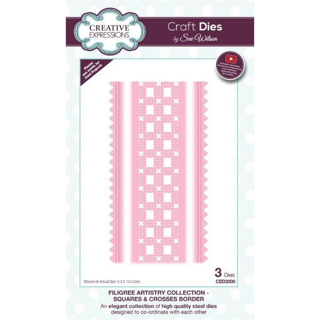 Sue Wilson Designs - Filigree Artistry Collection - Squares & Crosses