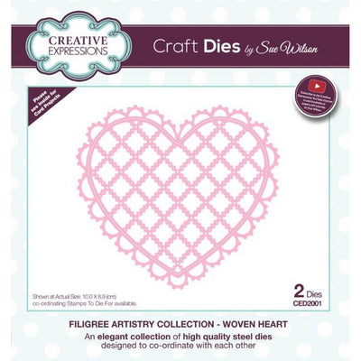 Sue Wilson Designs - Filigree Artistry Collection - Woven Heart