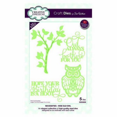 Sue Wilson Designs - Necessities Collection - Wise Old Owl