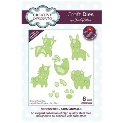 Sue Wilson Designs - Dies - Necessities Collection - Farm Animals (Ships April 17)