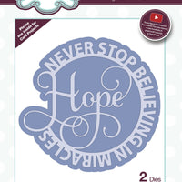 Sue Wilson - Dies - Circle Sayings Collection - Hope
