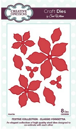 Sue Wilson Designs - Festive Collection - Classic Poinsettia