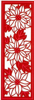 Sue Wilson Designs - Festive Collection - Poinsettia Mini Striplet