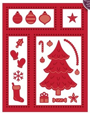 Sue Wilson Designs - Festive Collection - Christmas Shadow Box