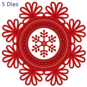 Sue Wilson Designs - Festive Collection -  Looped Snowflake Frame