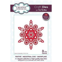 Sue Wilson Designs - Festive Industrial Chic Collection - Snowflake