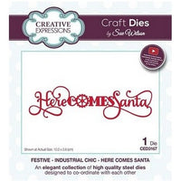 Sue Wilson Designs - Festive Industrial Chic Collection - Here Comes Santa