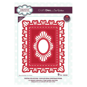 Sue WIlson - Festive Collection - Ruffled Edge Christmas Frame