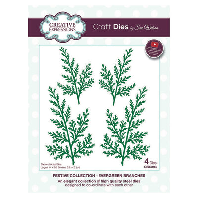 Sue WIlson - Festive Collection - Evergreen Branches (Pre-Order. Ships around June 14)