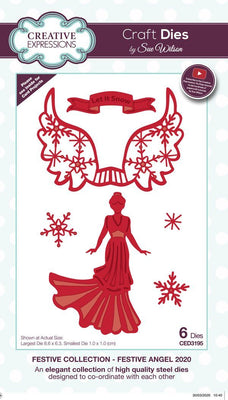 Sue Wilson - Festive Collection - Festive Angel 2020