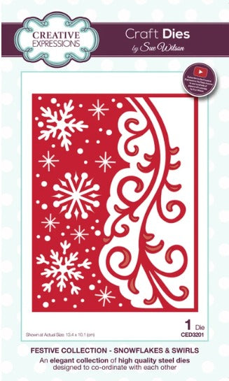 Sue Wilson - Festive Collection - Snowflakes & Swirls