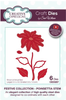 Sue Wilson - Festive Collection - Poinsettia Stem