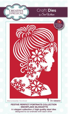 Sue Wilson - Festive Collection - Perfect Portraits - Snowflake Silhouette