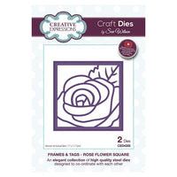 Sue Wilson Designs - Frames & Tags Collection  - Rose Flower Square