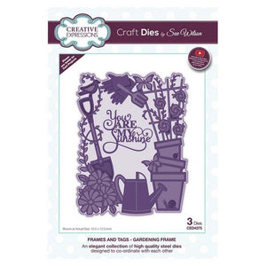 Sue Wilson Designs - Frames and Tags Collection - Gardening Frame