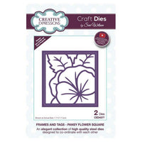 Sue Wilson Designs - Frames and Tags Collection - Pansy Flower Square