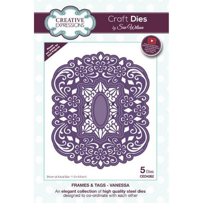 Sue Wilson Designs - Frames & Tags Collection - Vanessa