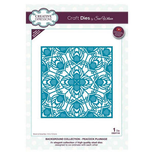 Sue Wilson Designs - Background Collection - Peacock Plumage