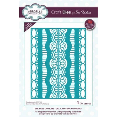 Sue Wilson Designs - Dies - Endless Options Collection - Delilah Background (Ships April 17)