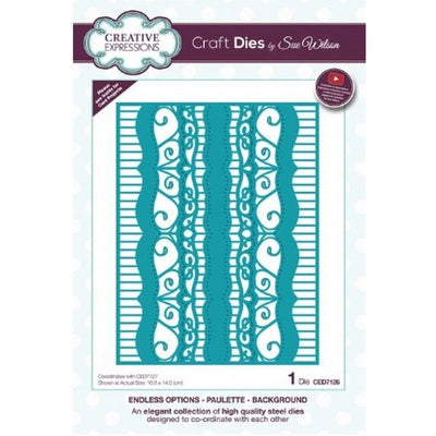 Sue Wilson Designs - Dies - Endless Options Collection - Paulette Background (Ships April 17)