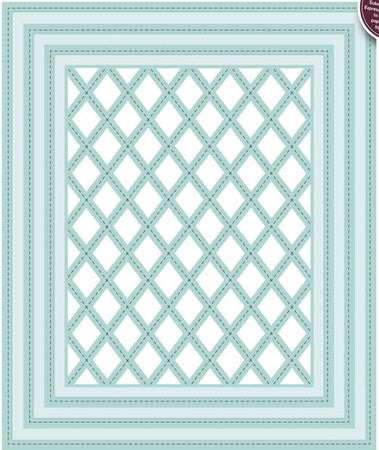 Sue Wilson Designs - Shadow Boxes -  Stitched Lattice Frames