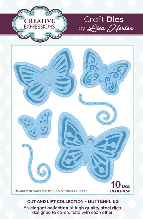 Creative Expressions - Cut and Lift Collection - Butterflies Craft Die