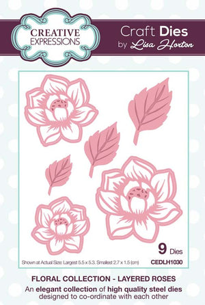 Creative Expressions - Floral Collection   - Layered Roses Craft Die