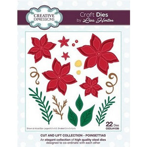 Creative Expressions - Cut and Lift Collection - Poinsettias Craft Die