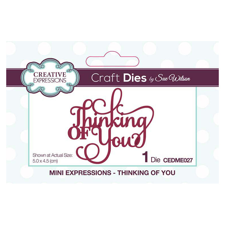 Sue Wilson Designs - Mini Expressions - Thinking of You