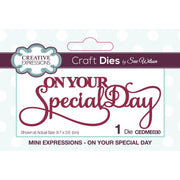 Sue Wilson Designs - Mini Expressions Collection - On Your Special Day