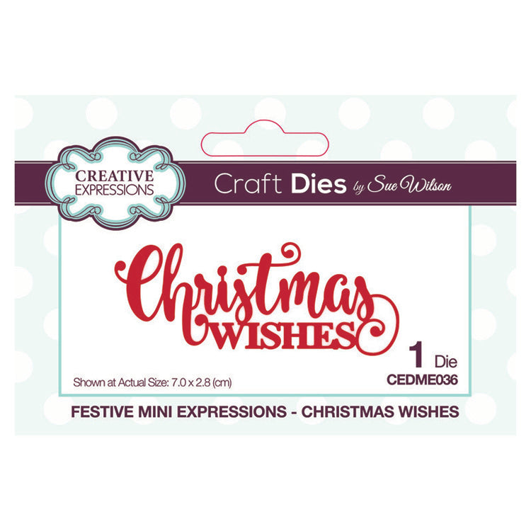 Sue Wilson - Mini Expressions - Festive - Christmas Wishes
