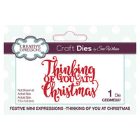 Sue Wilson - Mini Expressions - Festive - Thinking Of You At Christmas