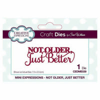 Sue Wilson Designs - Mini Expressions Collection - Not Older, Just Better