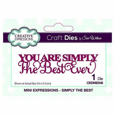 Sue Wilson Designs - Mini Expressions Collection - Simply The Best