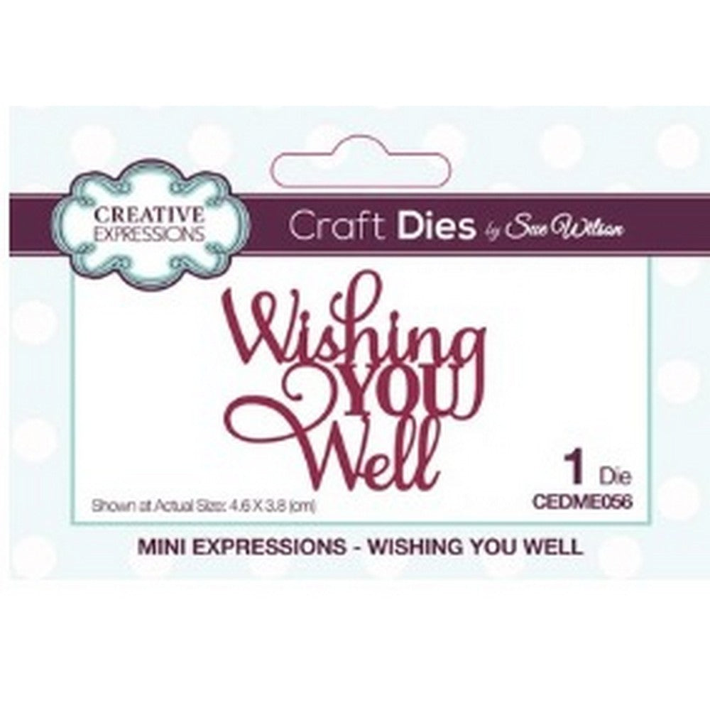 Sue Wilson Designs - Dies - Mini Expressions Collection - Wishing You Well (Ships April 17)