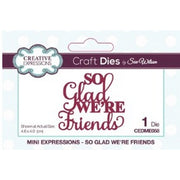 Sue Wilson Designs - Dies - Mini Expressions Collection - So Glad We're Friends (Ships April 17)