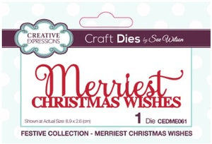 Sue Wilson - Festive Collection - Merriest Christmas Wishes