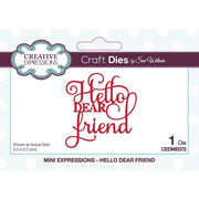 Sue Wilson - Mini Expressions - Hello Dear Friend