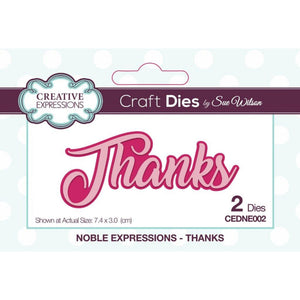 Sue Wilson Designs - Noble Expressions Collection - Thanks