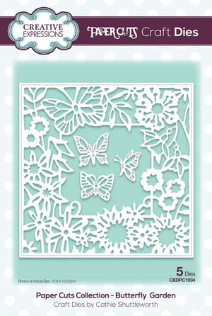 Creative Expressions - Paper Cuts Collection - Butterfly Garden Craft Die