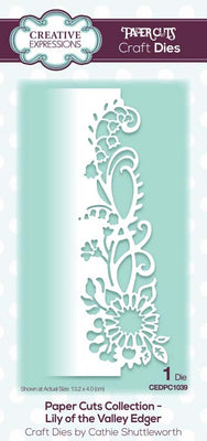 Creative Expressions - Paper Cuts Collection - Lily of the Valley Edger Craft Die