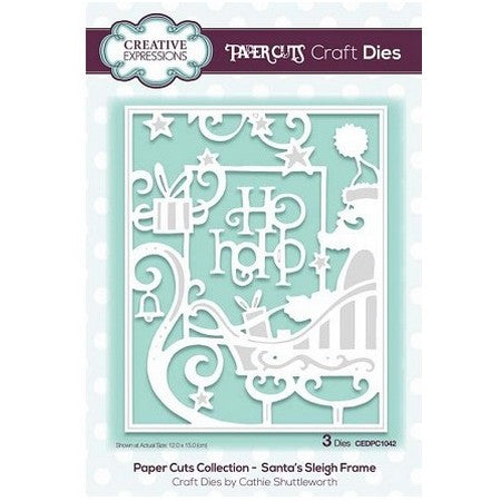 Creative Expressions - Paper Cuts Collection - Santa's Sleigh Frame Craft Die