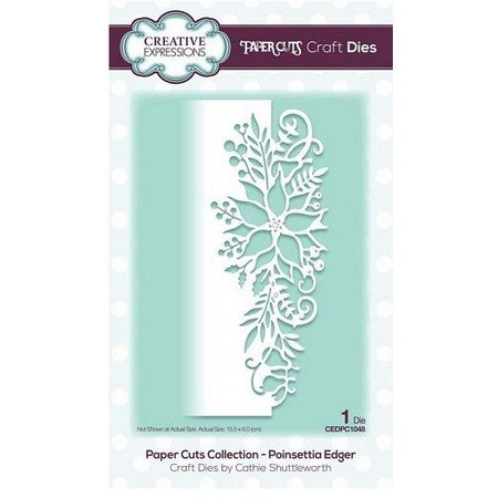 Creative Expressions - Paper Cuts Collection - Poinsettia Edger Craft Die